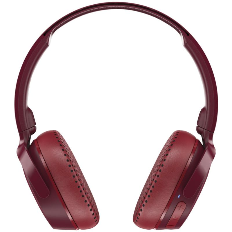 Skullcandy Riff Bluetooth On-Ear Headphones with Microphone - Red
