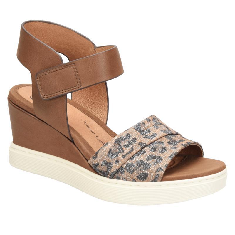 Sofft Samyra Leather Sporty Wedge Sandal