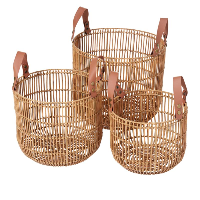 South Street Loft Set of 3 Wicker Baskets