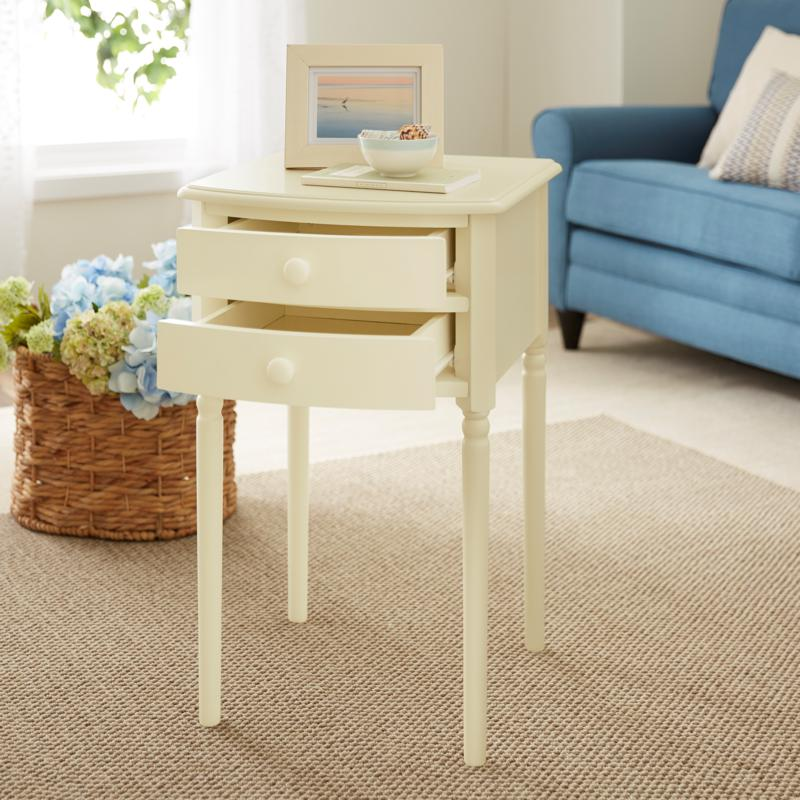 Southern Enterprises Tharton 2-Drawer Accent Table - Antique White