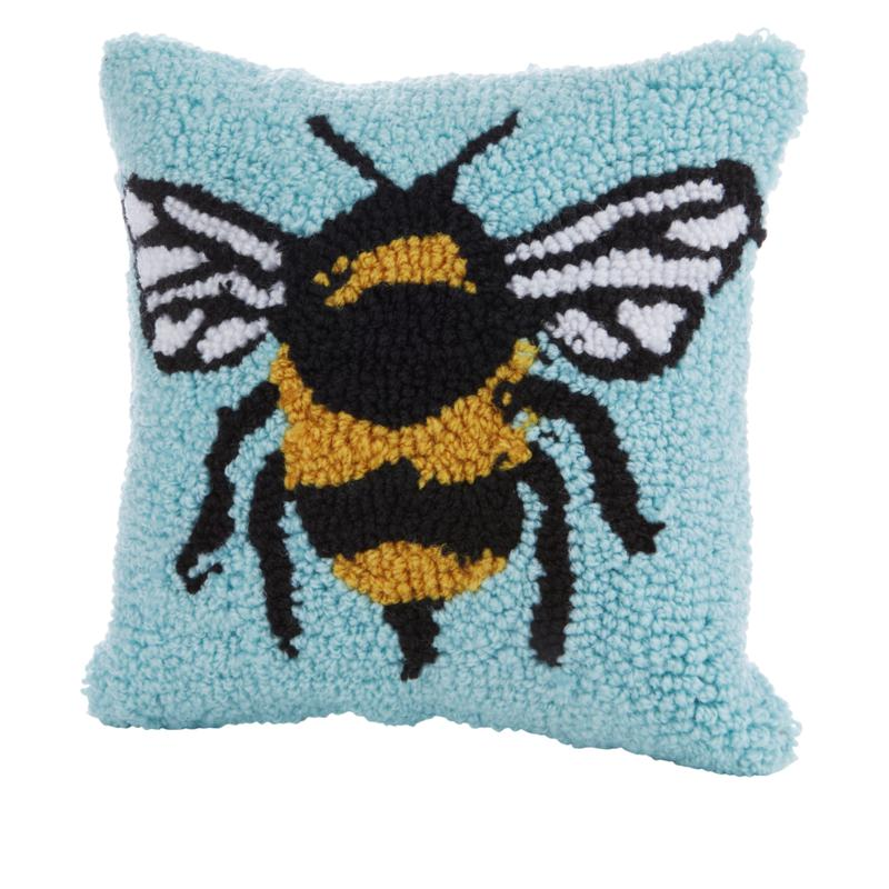 Spring Collection Decorative Pillow - Blue Bumble Bee