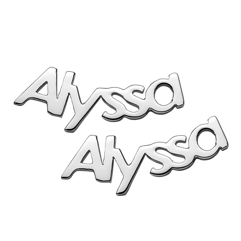 Sterling Silver or Gold over Sterling Personalized Name Crawler But...