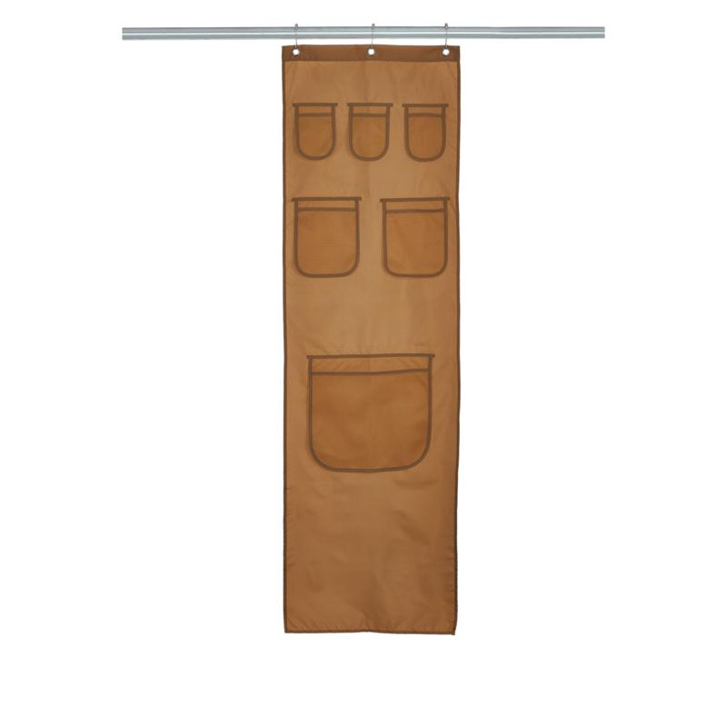 StoreSmith Shower Curtain Caddy with 6 Pockets