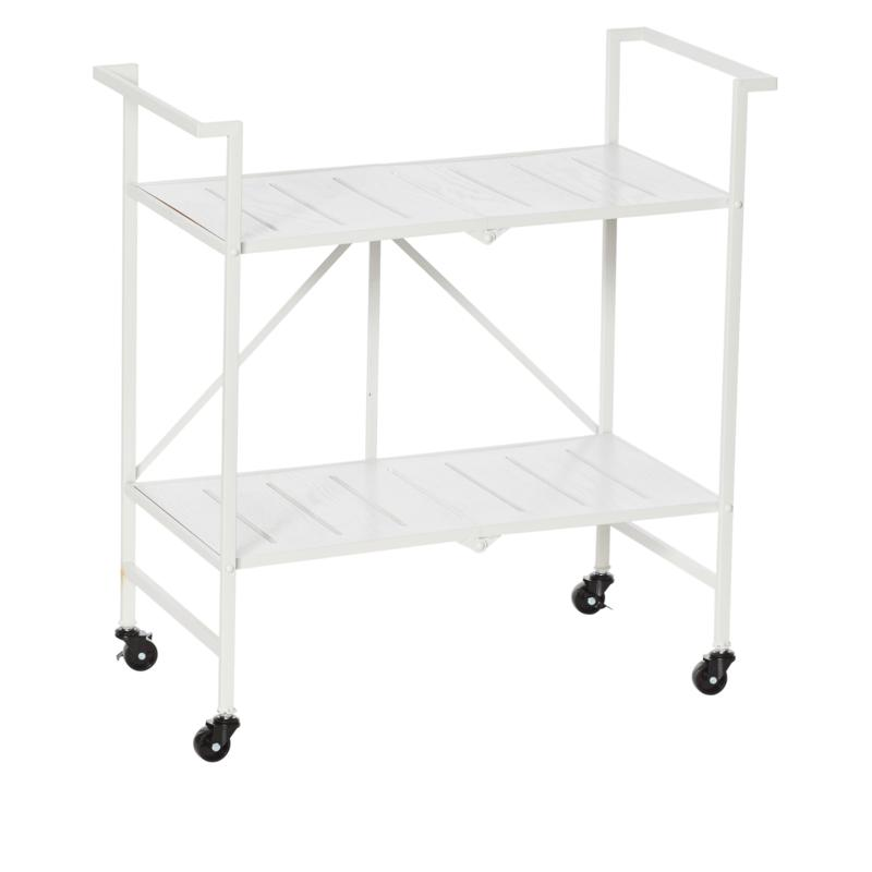 StoreSmith Two-Tier Metal and Wood Storage Rack
