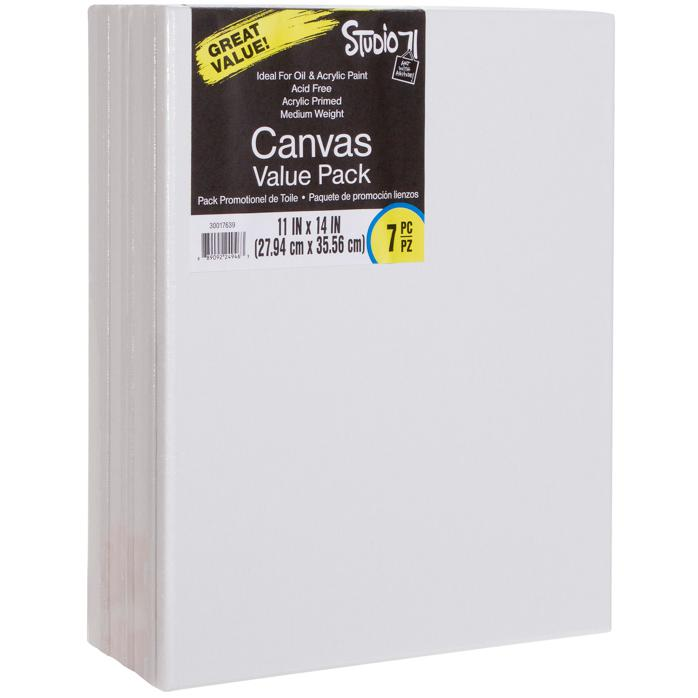 """Studio 71 Stretched Canvas 7-pack  - 11"""" x 14"""""""