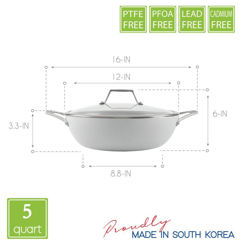 Techef Ceraterra 5 Qt 12 Nonstick All Purpose Chef Pan With Cover 20047100 Hsn
