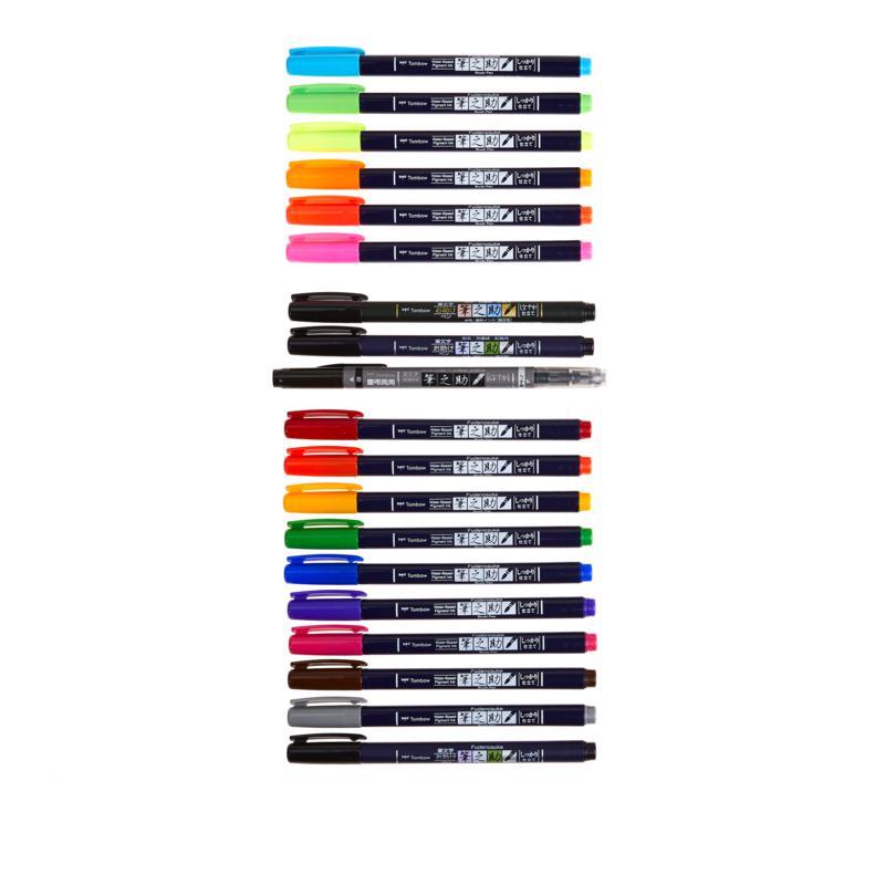 Tombow Fudenosuke Bright Colors Bundle