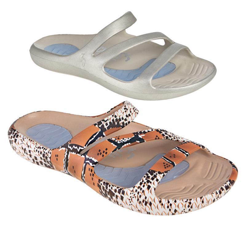 Tony Little Cheeks® 2-pack Slide Health Sandal