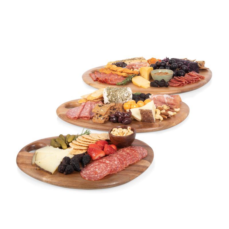 Toscana by Picnic Time 3-Pk Pebble Acacia Serving Boards (Acacia Wood)