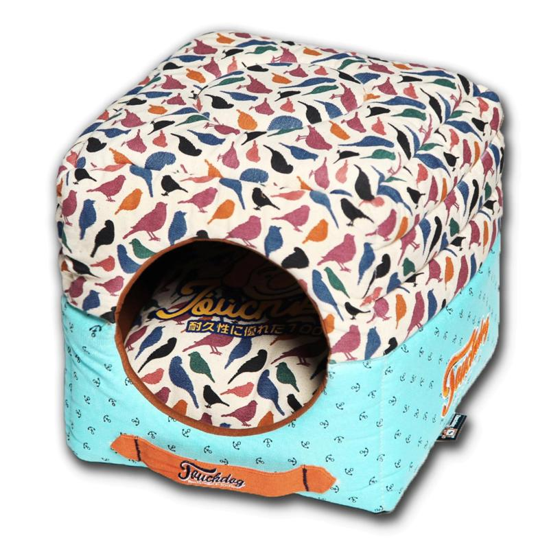 Touchdog Convertible Square 2-in-1 Collapsible Dog House Bed