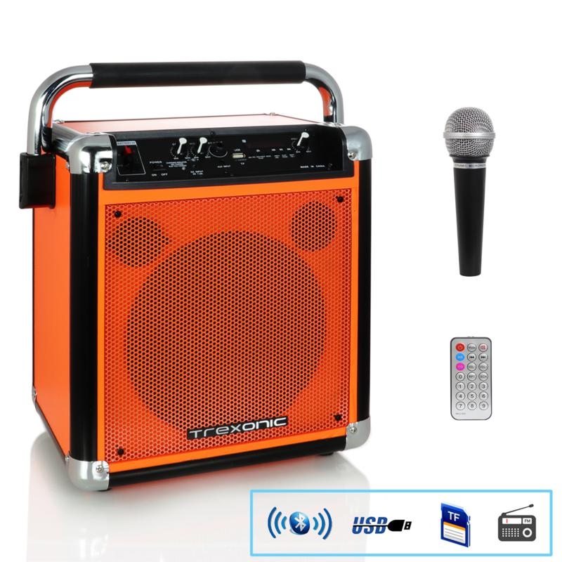 Trexonic Wireless Portable Party Speaker with USB Recording, FM Rad...