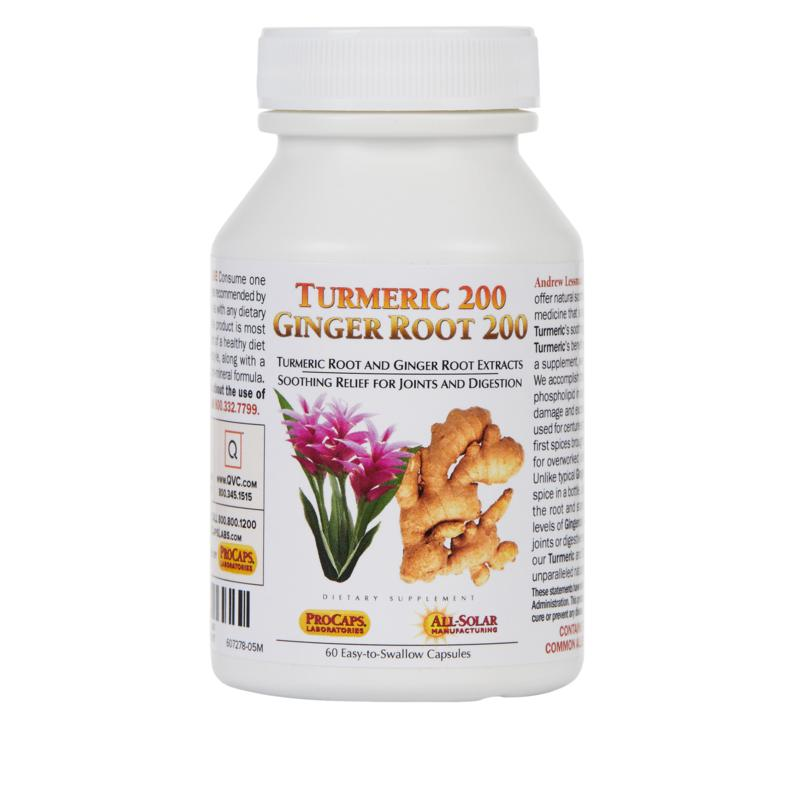 Turmeric 200 Ginger Root 200 - 60 Capsules
