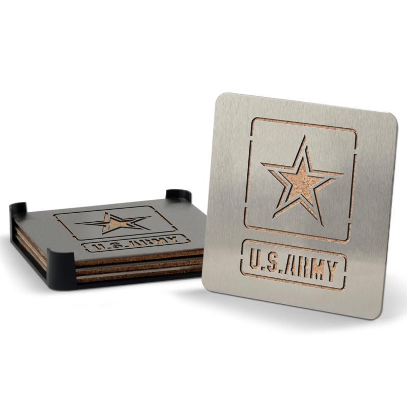 US Army Boasters 4-Piece Coaster Set