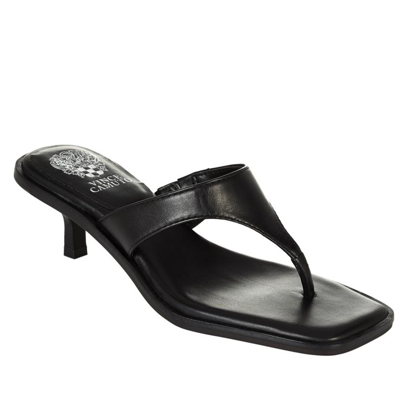 Vince Camuto Cannetta Leather Square-Toe Thong Sandal