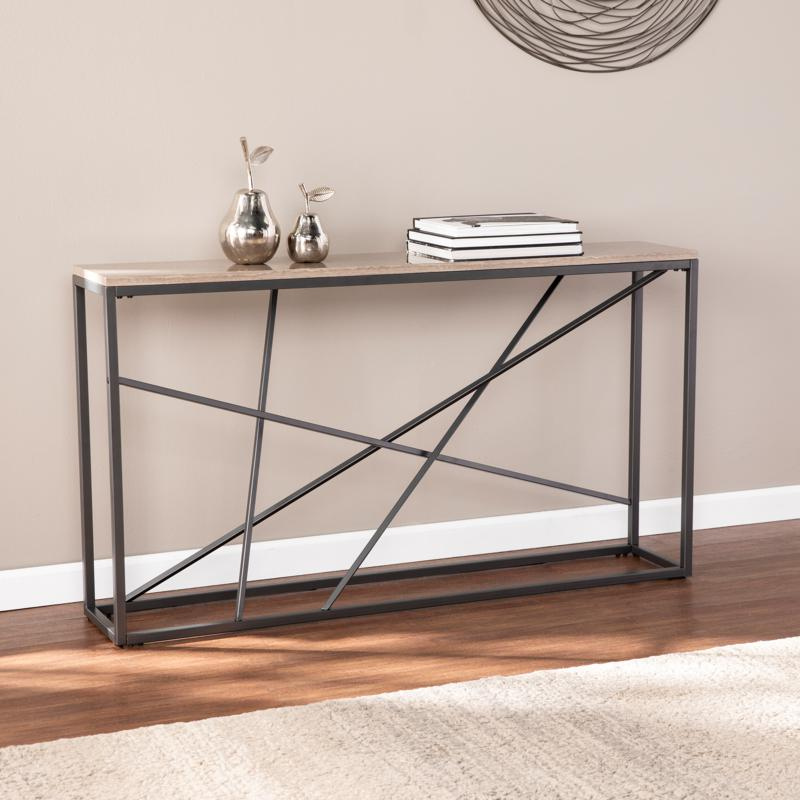 Volare Faux Marble Console Table