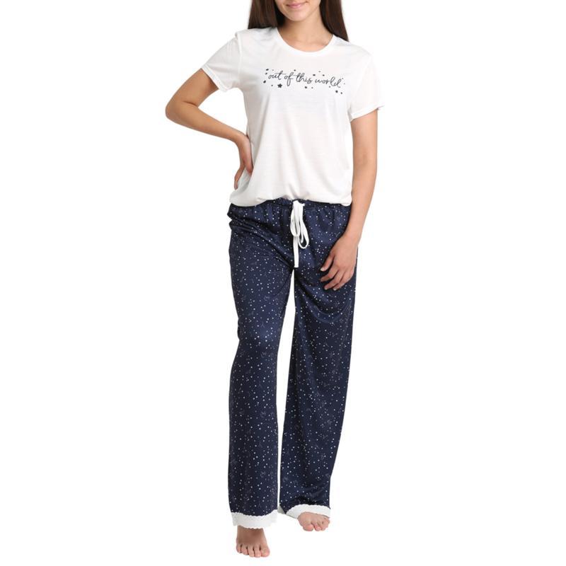 Wallflower Verbiage Tee and Pant Sleepwear Set