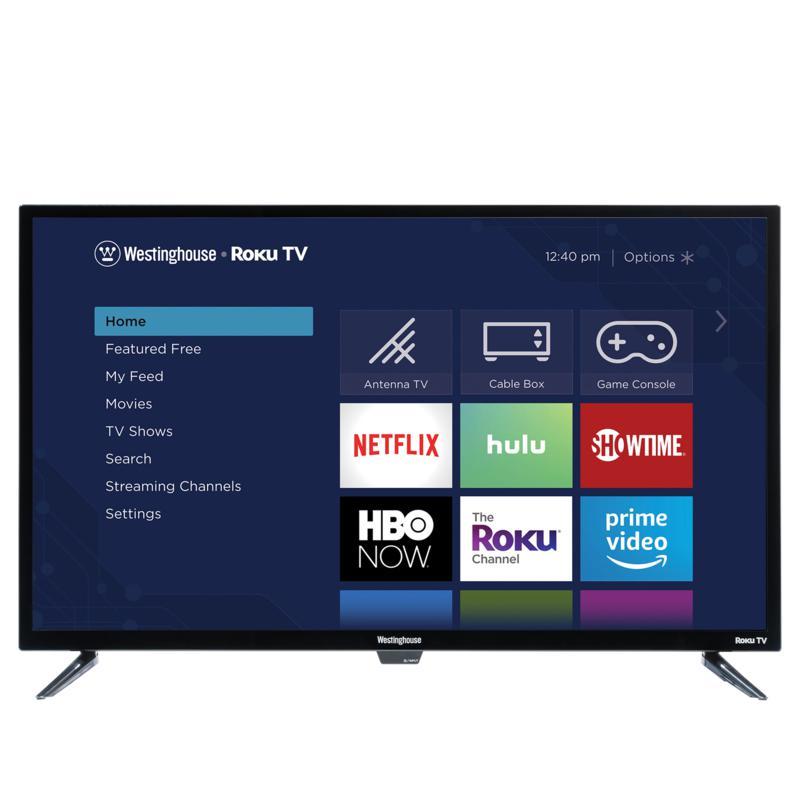 """Westinghouse 32"""" Smart HDTV w/Built-In Roku, 2-Year Warranty & Voucher"""