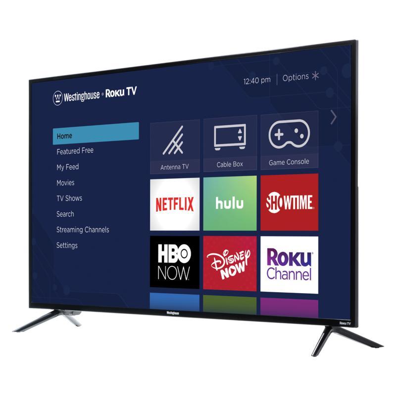 "Westinghouse 43"" 4K UHD Smart TV with Built-In Roku & 2-Year Warranty"