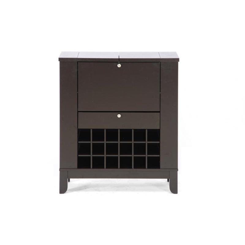 Wholesale Interiors Modesto Wood Bar and Wine Cabinet