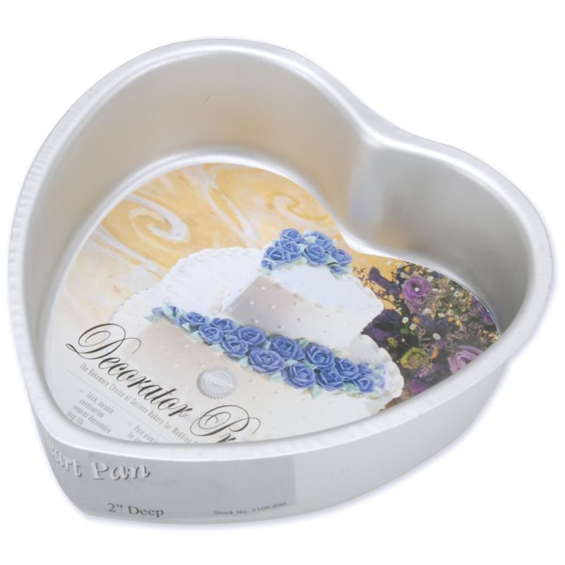 "Wilton Decorator Preferred 6-1/2"" x 6-1/2"" x 2"" Heart Cake Pan"