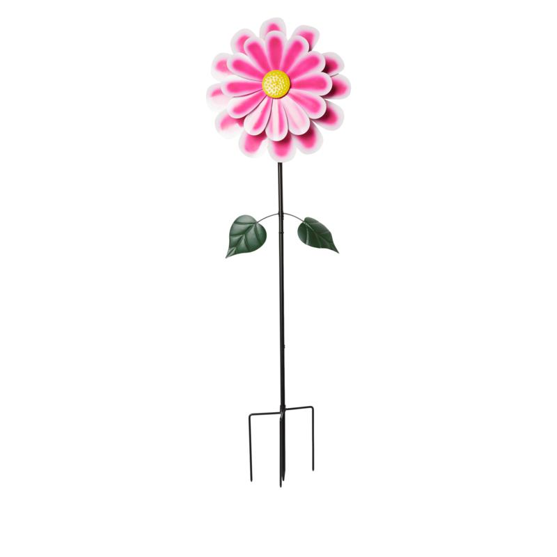 Wind and Weather Metal Dahlia Flower Wind Spinner