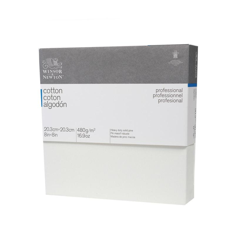 Winsor and Newton Professional Cotton Stretch Canvas Deep Edge 8 x 8