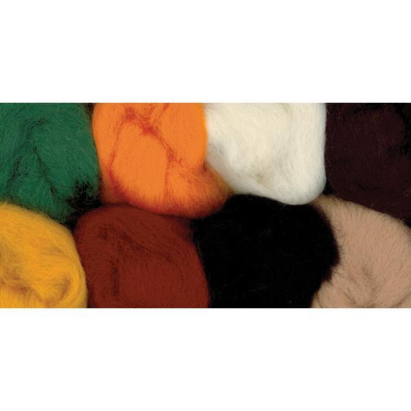 Wistyria Editions Wool Roving 12 .25oz 8/Pkg - Bold