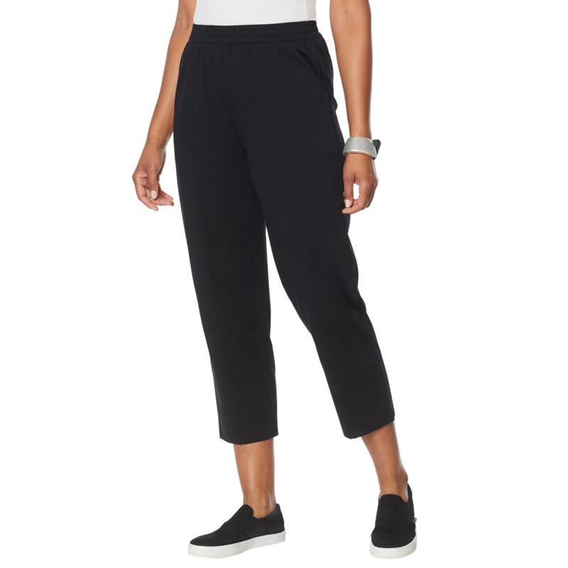 WynneLayers Cotton Knit Pull-On Seamed Ankle Pant