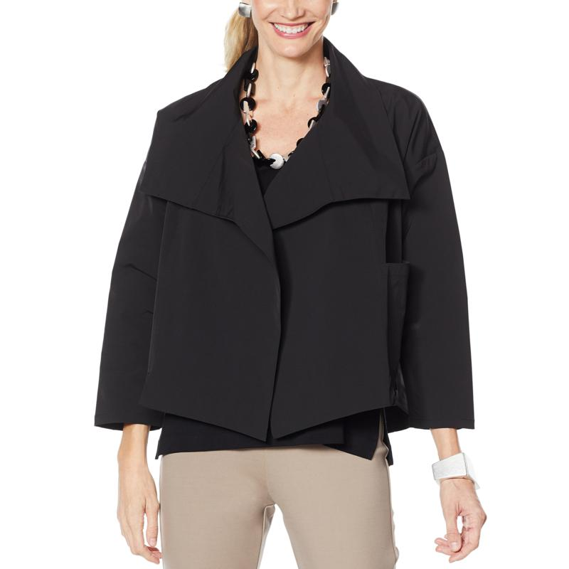 WynneLayers Wide Collar Boxy Jacket